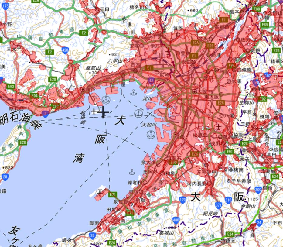 大阪飛行禁止区域