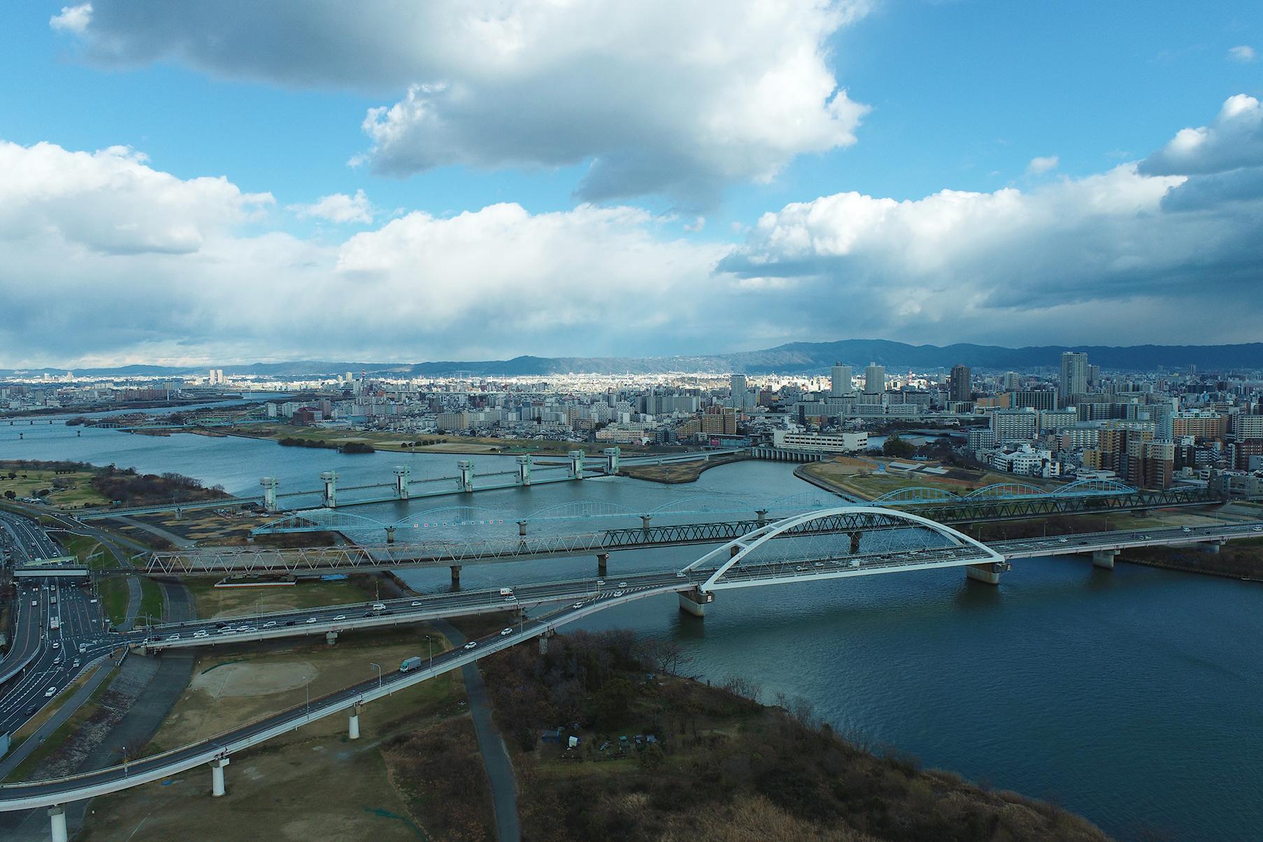 淀川飛行訓練